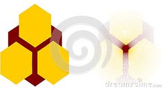Honeycomb logo ,colorful illustration for your project.