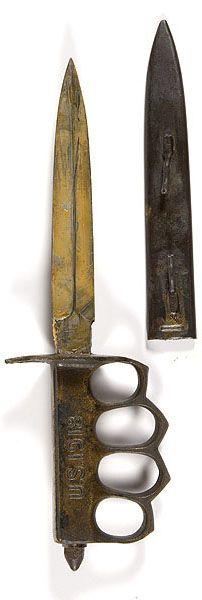 WWI trench knife, circa. 1918.