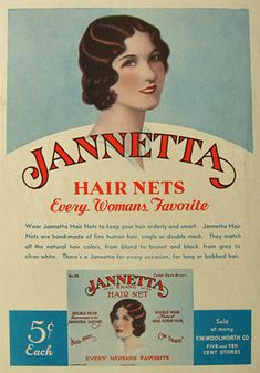 Jannetta Hair Nets, they're every woman's favourite (1932). Hair News Network All Hair. All The Time. http://www.HairNewsNetwork.com