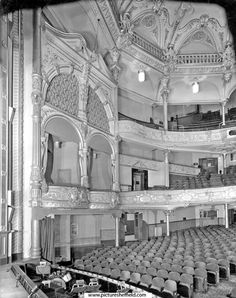Auditorium at The Empire Theatre, Charles Street. Opened 1895. Closed May 1959 and demolished the following year Amazing Places, Beautiful Places, Sources Of Iron, Industrial Development, Sheffield England, Cinema Theatre, South Yorkshire, Theatres, Local History