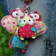 Llaveros owl crochet.