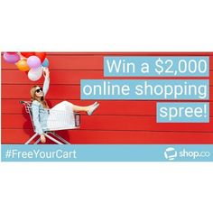Hey! I just entered to win a $2,000 online shopping spree! That's right, I said TWO THOUSAND DOLLARS 😎Use this link to enter: http://swee.ps/vLKsXAkQLet's do this!!💲 🙌 #shoppingspree #shop.co #shopdotco #$2000 #money #sweepstakes #contest #win #winbig #cash #twothousand #twothousanddollars #realdeal #nogamenogimmicks #emptyyourcart #freeyourcart #winning #enternow #letsdothis #onlineshoppingspree #onlinecontest #onlinesweepstakes #shopanywhereanytime #shopanywhere #realsweepstakes…