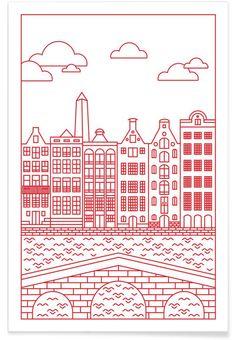 Amsterdam as Premium Poster by Jan Luzar   JUNIQE UK