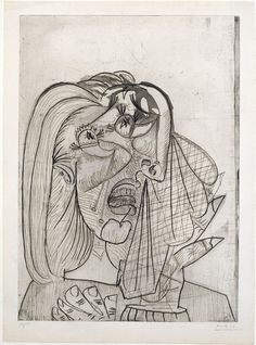Pablo Picasso, Weeping Woman. 1937, Etching, aquatint, and drypoint