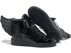on sale f291d bbe20 IN love Jeremy scott Adidas Wing Shoes, All Black Shoes, Jeremy Scott Adidas ,