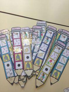Editable Writing Target Cards Pencils - Twinkl