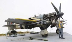 Scale models i like to see — Crazy model build by modeler Mike Garamond. Scale Models, Metal Models, Hawker Typhoon, Model Hobbies, Military Modelling, Ww2 Aircraft, Military Aircraft, Military Diorama, Model Airplanes