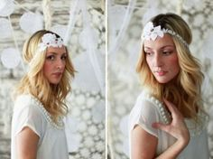 Accessoire pour tenue de mariage 20s Wedding, Lace Headbands, Bridal Hair Accessories, Curls, Wedding Photos, Marie, Wedding Inspiration, My Style, Crochet