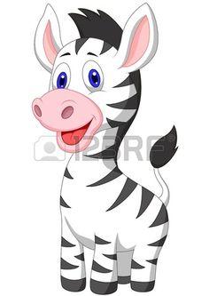 Illustration of Cute baby zebra cartoon vector art, clipart and stock vectors. Cartoon Cartoon, Zebra Cartoon, Cute Cartoon Drawings, Cartoon Images, Cartoon Characters, Jungle Animals, Baby Animals, Cute Animals, Cartoon Mignon