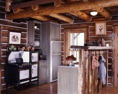 Cute little Cabin kitchen