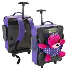Cabin Max Bear Childrens Luggage Carry on Trolley Suitcase (Blue ...
