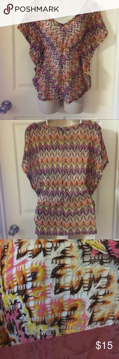 Gorgeous BoHo butterfly sleeve blouse Loose knit butterflies sleeve blouse looks great over a solid cami or crop top. NWOT Almost Famous Tops Blouses