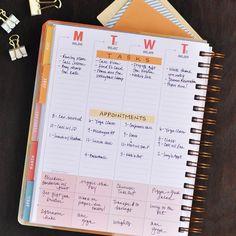 Weekly Planner in vertical layout