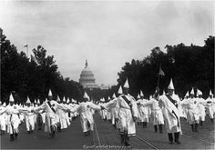 KKK Marcch on Washington D.C.  1920's