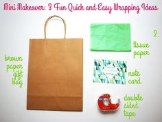 Mini Makeover: 3 Fun Quick and Easy Wrapping Ideas (2) on Style for a Happy Home
