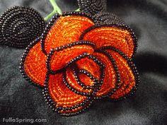 French beaded flower