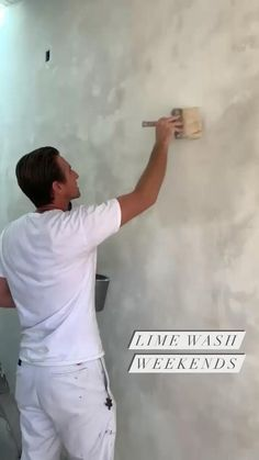 Natural & Textured Lime Wall Paint creates a matte velvety finish with tonal variations. 💫 First coat is rolled on. Second coat brushed in random strokes. ✨ Aesthetic and health benefits like plaster 💥 Non-Toxic, Eco-Friendly and Sustainable! Faux Walls, Plaster Walls, Textured Walls, Faux Painting, House Painting, Wall Colors, House Colors, Interior Paint, Interior Design