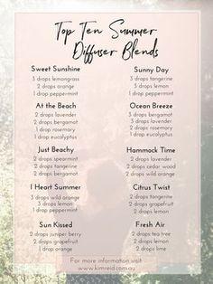 top 10 summer diffuser blends