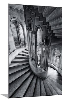 Spiral Staircase at Manchester Town Hall, England, UK. Gothic Architecture, Futuristic Architecture, Beautiful Architecture, Beautiful Buildings, Architecture Design, Beautiful Places, Stairs Architecture, Manchester Town Hall, Stairway To Heaven
