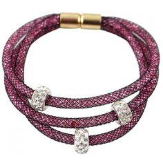 Chic Women's Rhinestone Layered Bracelet