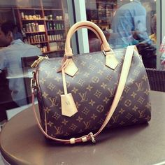 Louis Vuitton Speedy 30 Bandouliere Monogram with initial M :)