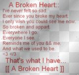 Heart Broken Love Poems | love poems Graphics, Cliparts, Stamps, Stickers [p. 1 of 2] | Blingee ...