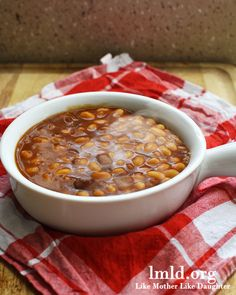 BBQ Baked Beans made in the Crock Pot. Click for the #recipe #lmldfood