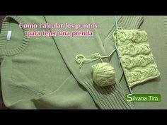 Cómo calcular los puntos para tejer una prenda - video paso a paso | Crochet y Dos agujas