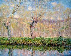 Printemps, bord de l'Epte (C Monet - W 980),1885.