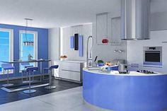 Construindo Minha Casa Clean: 45 Cozinhas Americanas com Ilha em Curva ou Circular! Maravilhosas!!!