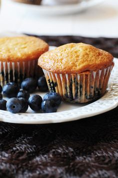 Rich & delicious blueberry muffins, made even better with the addition of Philadelphia Cream Cheese