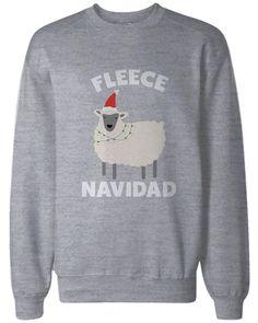 Feliz Navidad Christmas Sweatshirts Funny Holiday Pullover Fleece Sweaters