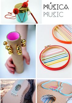 Una estupenda idea educar a los niños en el reciclaje y en el amor a la música.  Aunque son instrumentos mu...