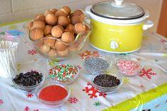 cake pop fondue; we really should do something like this!
