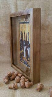 Arte lá em casa: Caixa Porta Rolha - Model 2