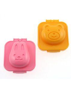 Kotobuki Plastic Egg Mold, Rabbit and Bear ❤ Kotobuki