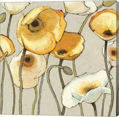 Jaune Gris II Floral Canvas Wall Art Print by Shirley Novak