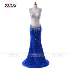 Find More Evening Dresses Information about Sexy Long Evening Dress Mermaid Sequin Royal Blue Party Dresses Rhinestone See Through Prom Gowns Backless Traje De Gala SA179,High Quality dresses long for party,China dresses sexy Suppliers, Cheap dress puff from XCOS Wedding Dresses Co.,Ltd on Aliexpress.com