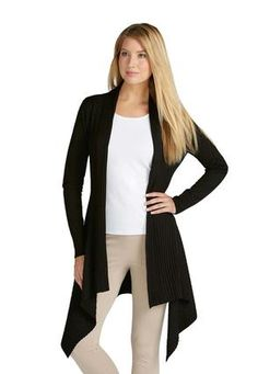 bcae6f844e Hooded Striped Duster Cardi- Plus | What's In Your Closet? | Fashion ...