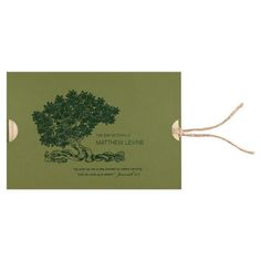 Rooted: guests involved in your celebration from the moment they receive this unique and intriguing Bar or Bat Mitzvah invitation! When they pull on the twine, the invitation pops out from both sides — your ceremony information on the left, reception details on the right! Eco-friendly Kraft paper, plain brown twine, and shades of green make the Tree of Life far more than just a symbol. Bar mitzvah and bat mitzvah party invitation, Bar bat mitzvah invitation.