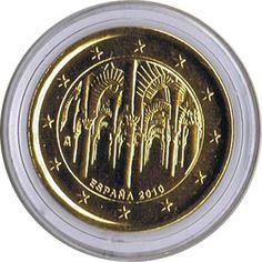 moneda conmemorativa 2 euros España 2010 Cordoba chapada oro.
