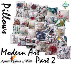 """Annett's Sims 4 Welt: 30 """"Modern Art"""" Pillows - Part 2"""
