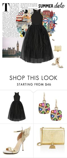 """""""Summer Date"""" by mrs-snow ❤ liked on Polyvore featuring Elizabeth and James, Effy Jewelry, WithChic and Yves Saint Laurent"""