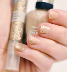 ongles-manucure-nude-dore