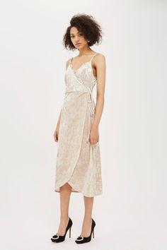 Velvet Plunge Wrap Dress