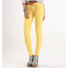 Bullhead Black Colored Bright Skinniest Jeans via Polyvore