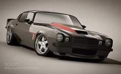 Camaro 1976 RS RESTO by armani1vip Transportation Photography #InfluentialLime