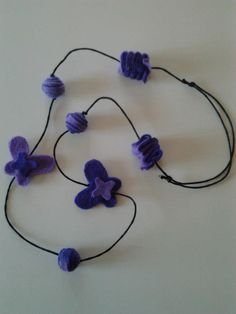 Collana in feltro - Felt necklace