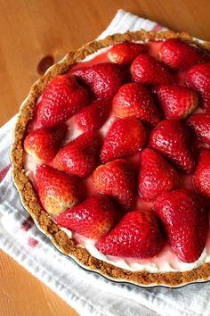 strawberry cream pie #strawberry #creamcheese #creampie