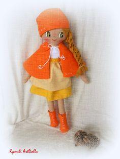 Doll dor Play - by Kymeli . Soft Dolls, Elf, Doll Clothes, Christmas Ornaments, Holiday Decor, Handmade, Hand Made, Christmas Jewelry, Elves
